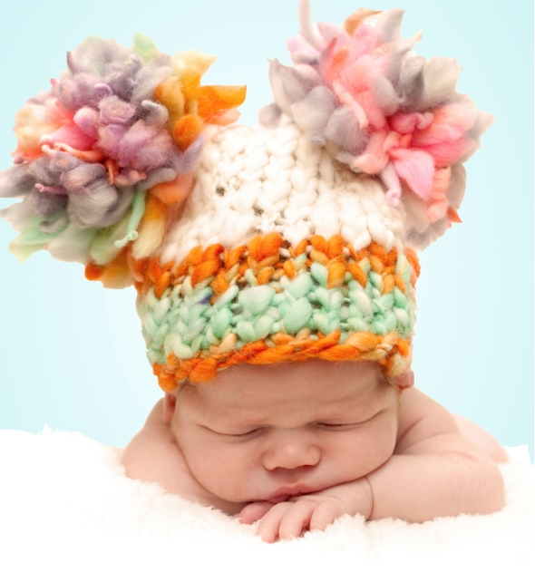 Newborn in Hat