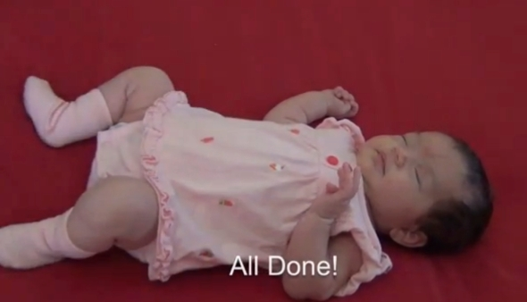 "From ""Changing Baby's Clothes"" Video"